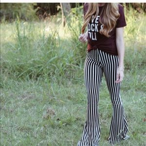 🌟Striped Bell Bottom Flares